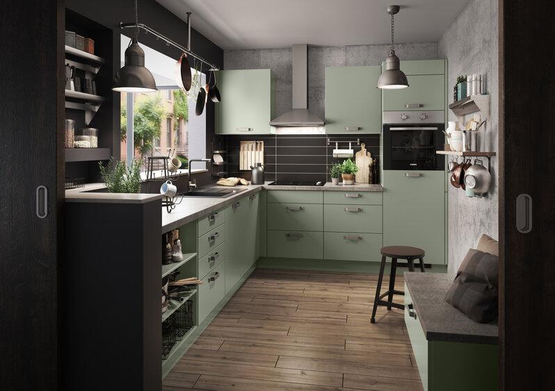 Bevorzugt Grüne Küchen - Küchentrends in Grün - Küche&Co ED73