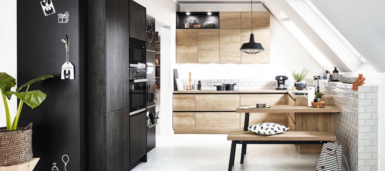 Küche U Form » Moderne Küche in Oxid Küche&Co