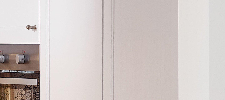Echtholz Seidengrau lackiert