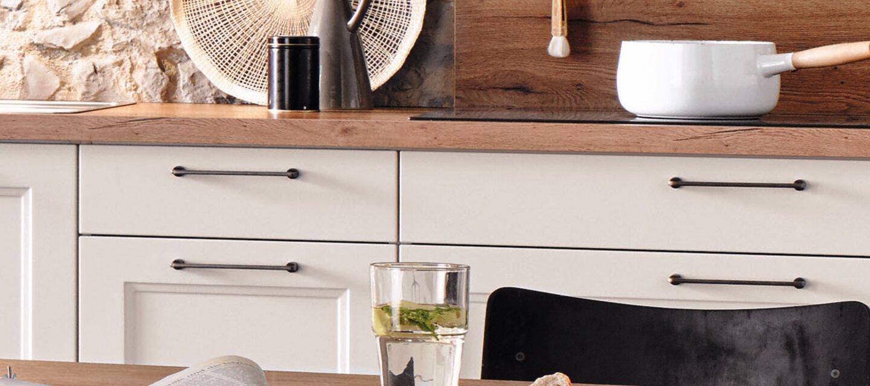 Landhaus Küche in Weiß matt Küche Olivenhain